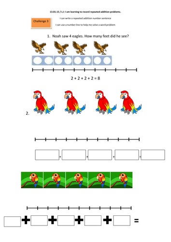 Year 1 multilplication Repeated addition and arrays by shaunage Teaching Resources Tes