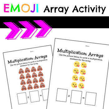 Emoji Array Worksheets