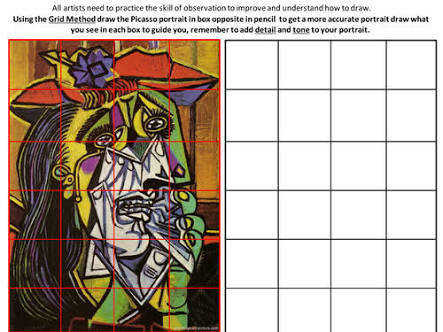 Picassob student art worksheets Google Search