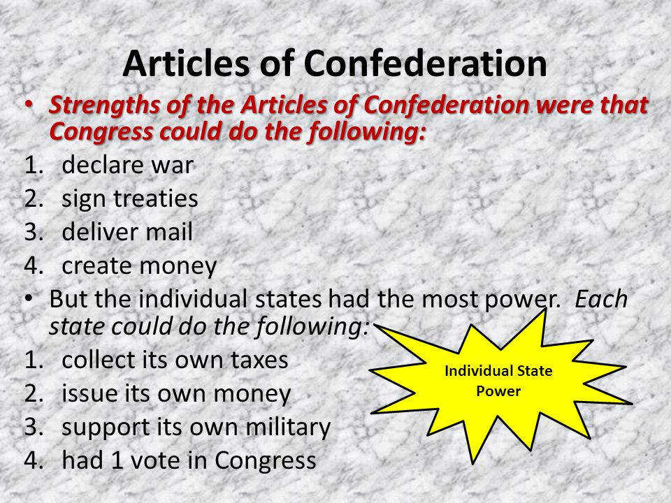 5 Articles of Confederation