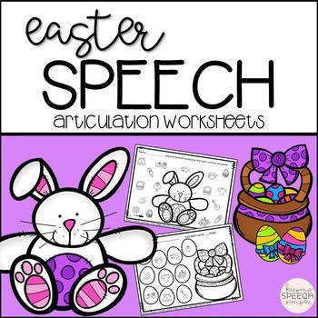 Easter Speech No Prep Articulation Worksheets