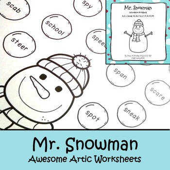 jan2018slpmusthave Mr Snowman Awesome Articulation Worksheets 720 Words