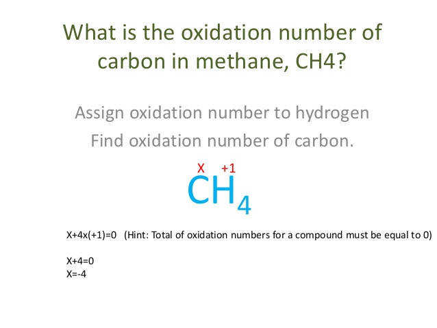 oxidation numbers in a polyatomic ion Same as its charge 5