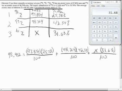 Free Calculating Average Atomic Mass Worksheet Q4 Youtube