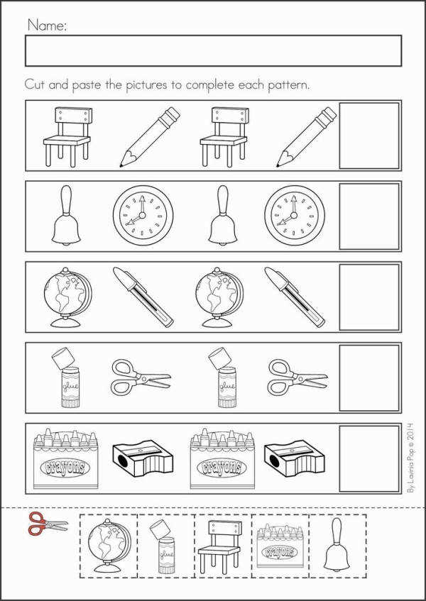 Kindergarten Back to School Math & Literacy Worksheets and Activities 135 pages A page