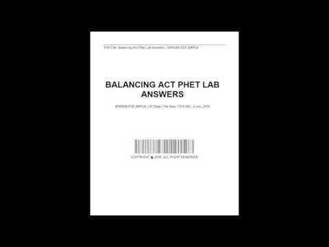 Balancing Act Phet Lab Answers