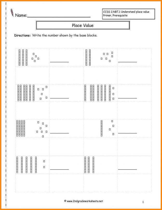 11 Place Value Blocks Worksheets Math Cover Long Division With Base Ten Placev Division With Base