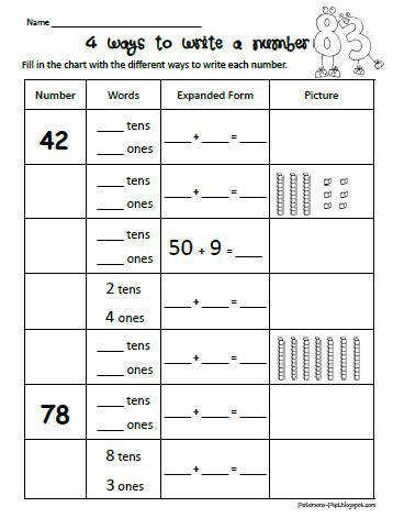Free Worksheets base ten place value worksheets first grade base ten block worksheets