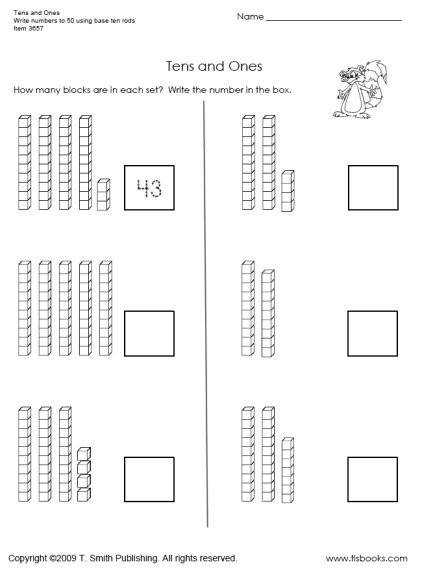 Tens and es Worksheet 1