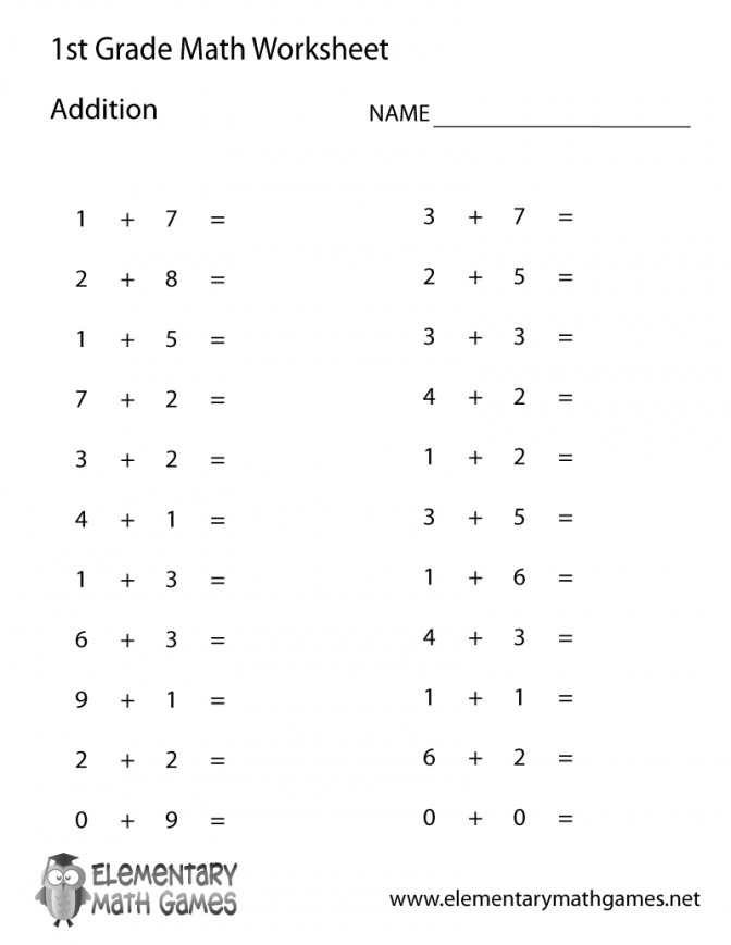 First Grade Simple Addition Worksheet Basic Math Word Problems Worksheets Free 1st Prin Simple Math Problems