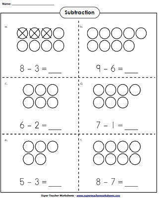 Printable worksheets with basic subtraction facts subtraction flash cards and subtraction games