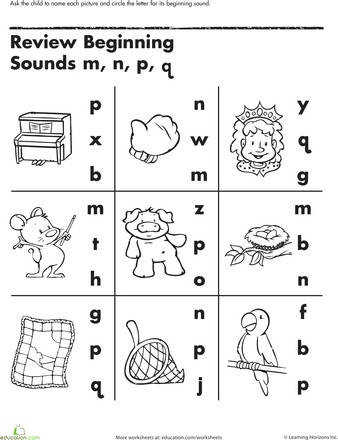Bunch Ideas of Worksheets Beginning Sounds Also Letter Template