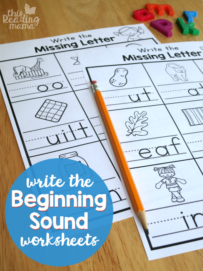Write the Beginning Sound Worksheets FREE This Reading Mama