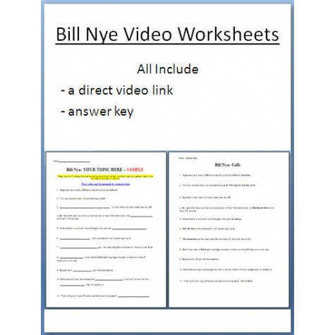 Bill Nye Cells Video Worksheet 6th 7th Grade Worksheet