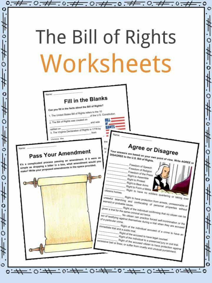 Download the The Bill of Rights Facts & Worksheets
