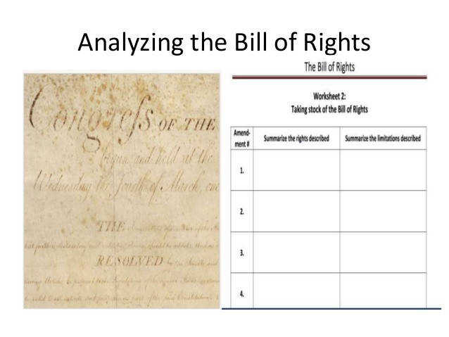Analyzing the Bill of Rights 6