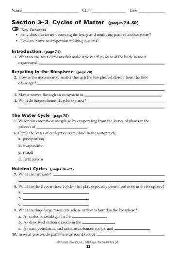 Worksheets Cycles Matter Worksheet collection of cycles matter worksheet sharebrowse sharebrowse