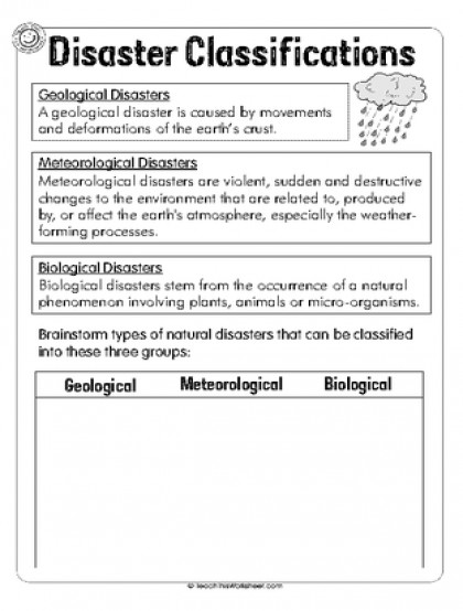 Disaster Classification 1pg