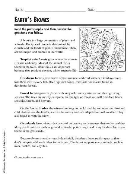 Ideas of Biome Worksheets For Your Proposal