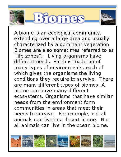 Habitats and Biomes PDF File 73 Pages