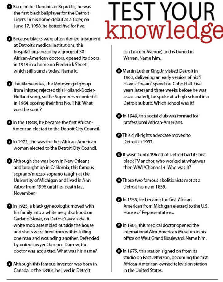 This is a picture of Gargantuan Black History Month Quiz Printable