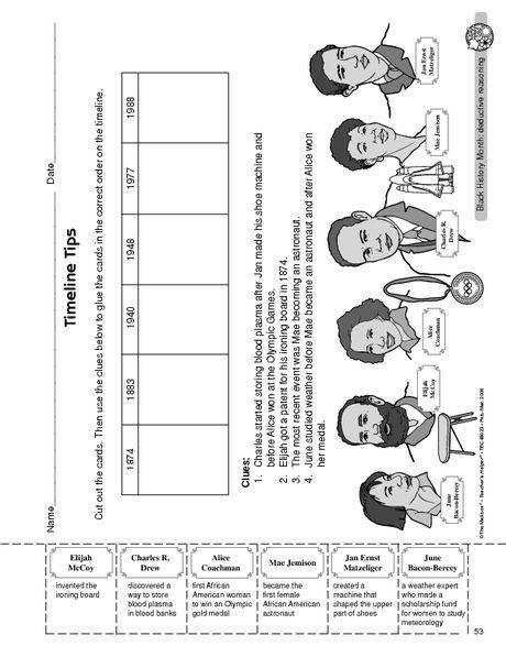 Black History Month Worksheet famous African Americans