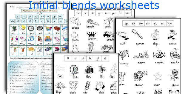 Initial blends worksheets