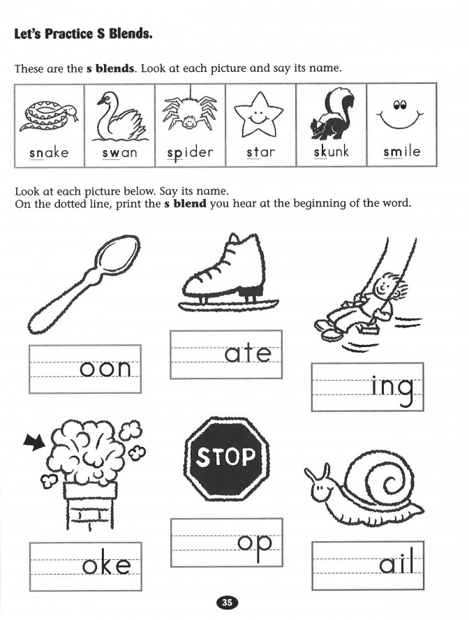 Blends Worksheets Wallpapercraft Bl Blend Kindergart Blend Worksheets Kindergarten Worksheet Medium