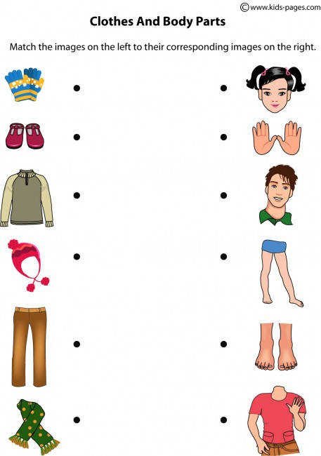 Clothes And Body Parts worksheets