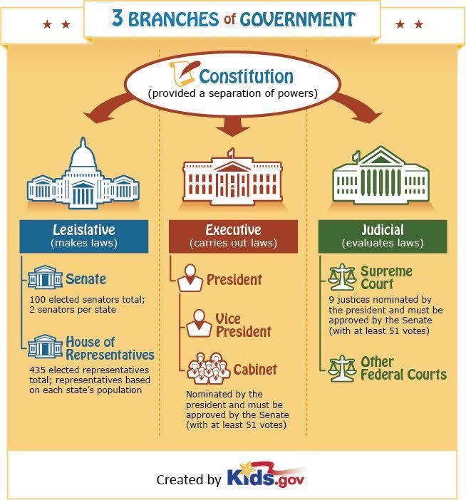 FREE 3 Branches of Government Poster Great for Teachers & Homeschoolers