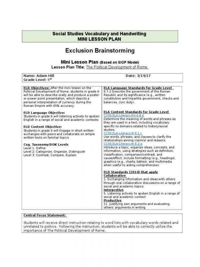 Social Stu s Vocabulary And Handwriting Lesson Plan Reading Government Plans 12th Grade Government Lesson Plans