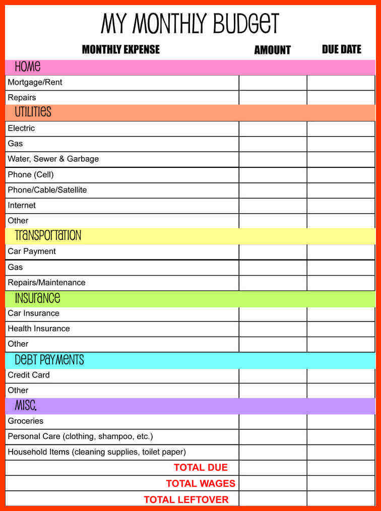bud planner worksheet 10