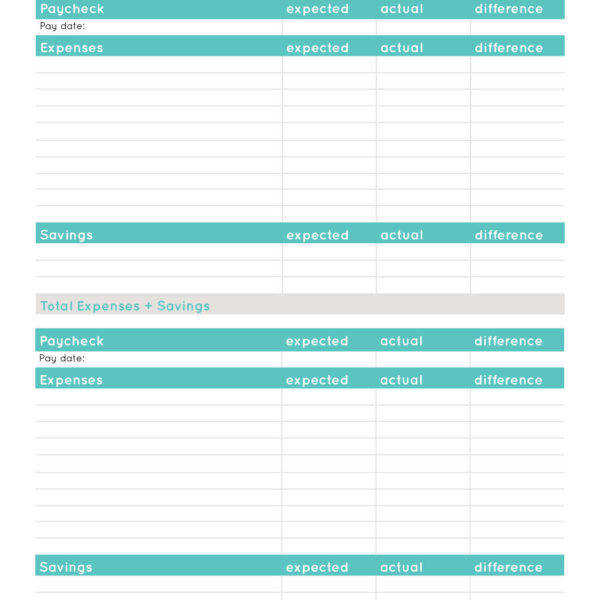 blank paycheck bud printable worksheet