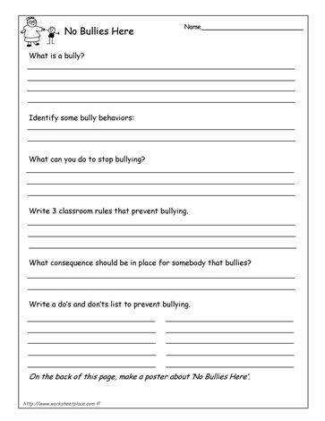 Anti bully questionnaire