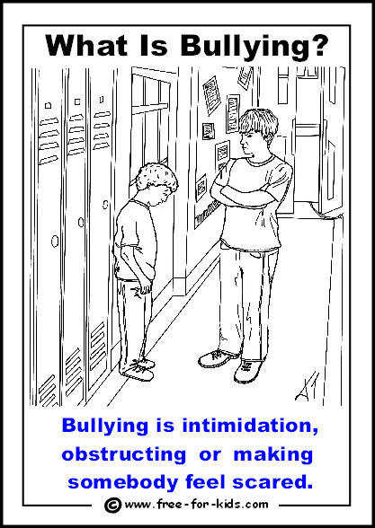 A boy being blocked by a bully