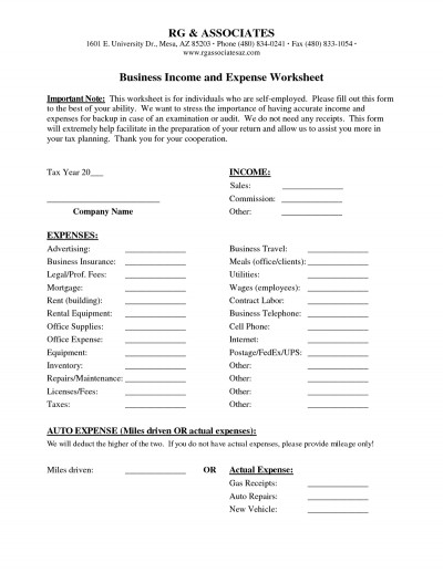 Business In e Worksheet Source · In e And Expenses Spreadsheet Small Business With 10 Best
