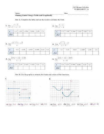 242 Honors Calculus WORKSHEET 3 4