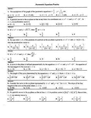 Pre calculus Worksheets