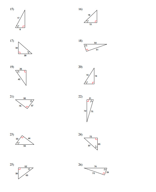 Find the Unknown Angle Worksheet