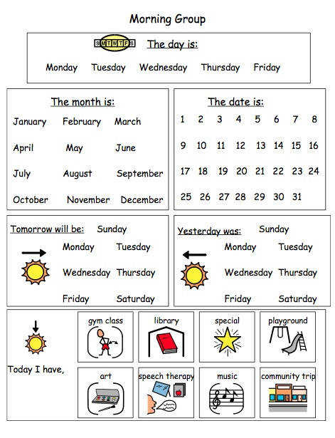 Calendar Worksheet laminate and use daily with a dry erase marker