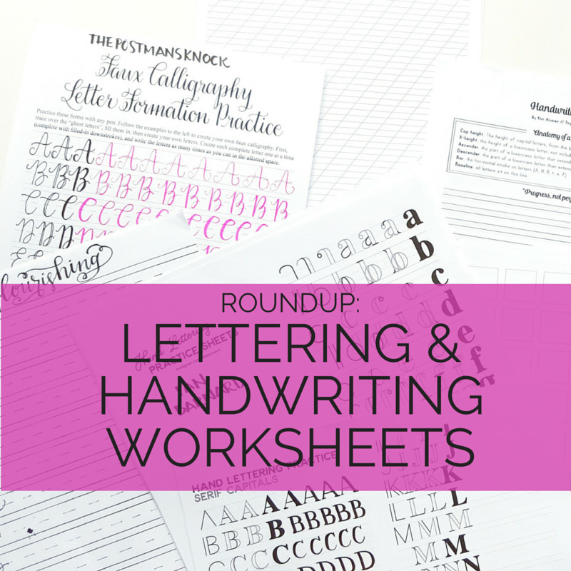 handwriting and lettering worksheets
