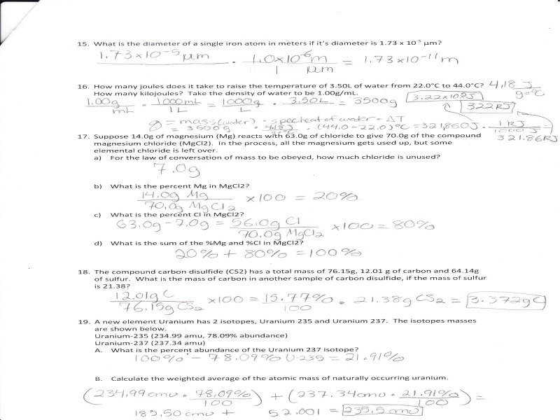 Calorimetry Problems Worksheet · Chem 163 Supplemental Instruction – Dean Students fice – Iowa