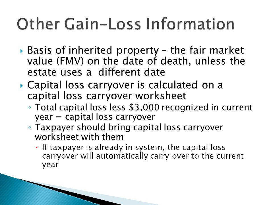 Other Gain Loss Information