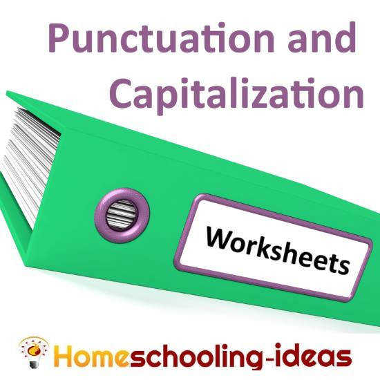 Punctuation and capitalization worksheets