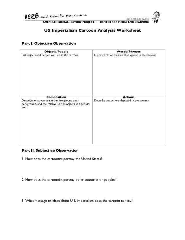 Cartoon Analysis Worksheet Homeschooldressage
