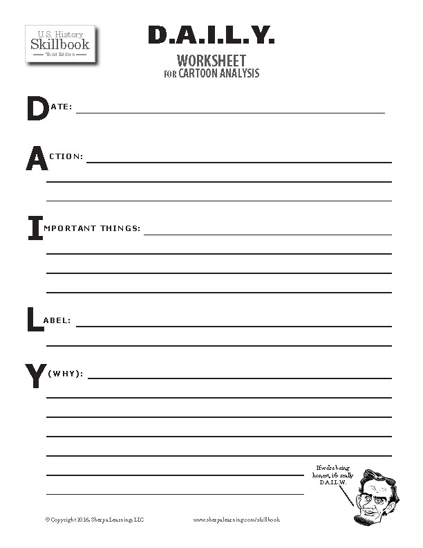D A I L Y Worksheet for Cartoon Analysis