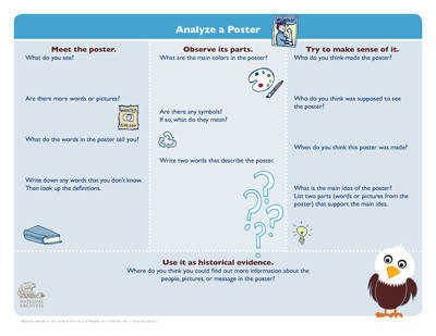 Cartoon Analysis Worksheet for Novice or Younger Students