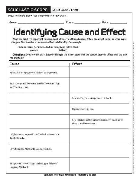 Cause And Effect Worksheets Cause And Effect Worksheet Th Grade Free Worksheets Library With Easy