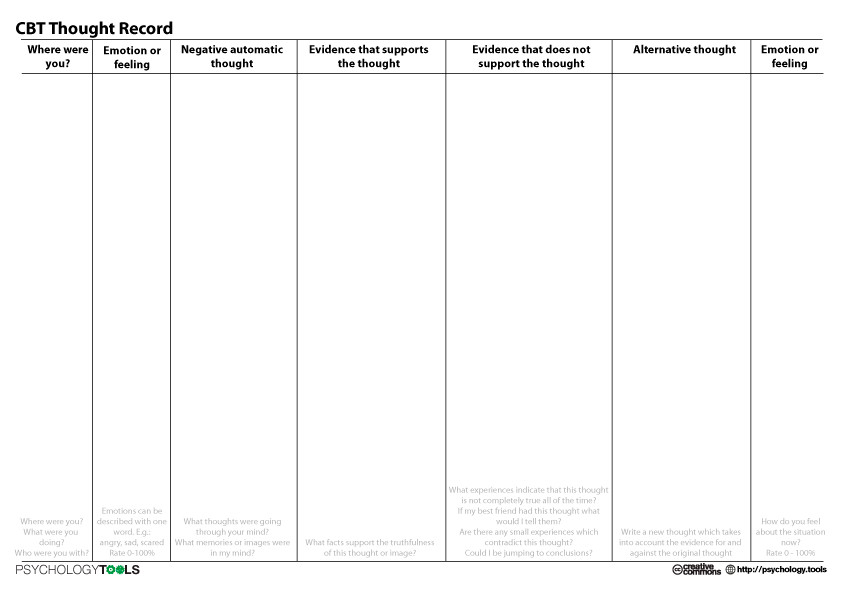 17 Best ideas about Cognitive Behavioral Therapy Worksheets on