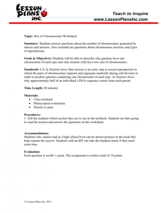 Chromosomes Worksheet Cell Structure And Function Lesson Plan High School 1 9bb74bcbabfbca350e580c Cell Structure Lesson